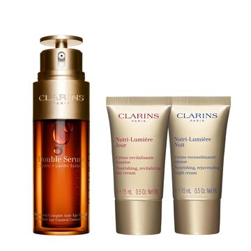 Double Serum & Nutri-Lumière. Age-defying programme.