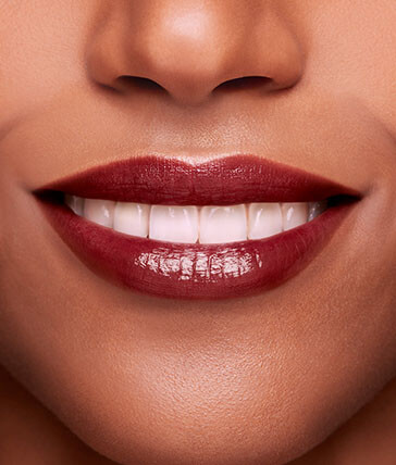 Preview of the lip perfector in shade 3 on dark skin