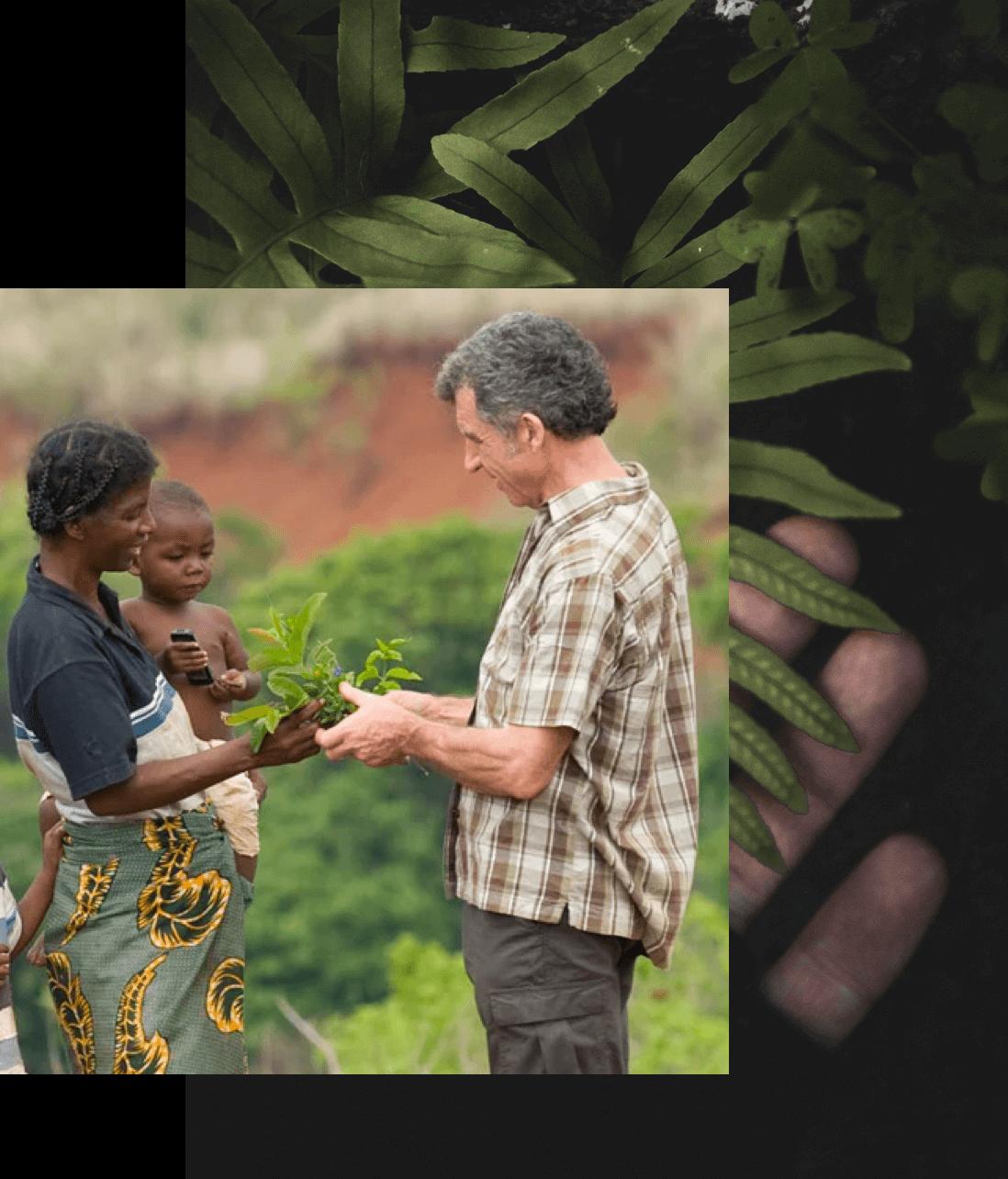Clarins ethnobotanists, nature experts