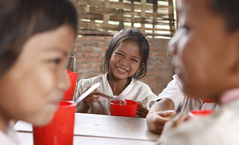 The FEED Clarins partnership—working together to end world hunger.