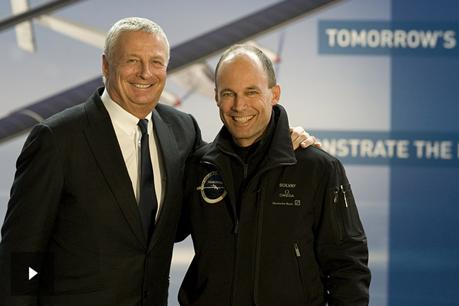 Christian Courtin-Clarins and Bertrand Piccard.