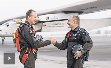 André Borschberg and Bertrand Piccard